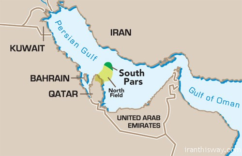 Image result for south pars gas field map