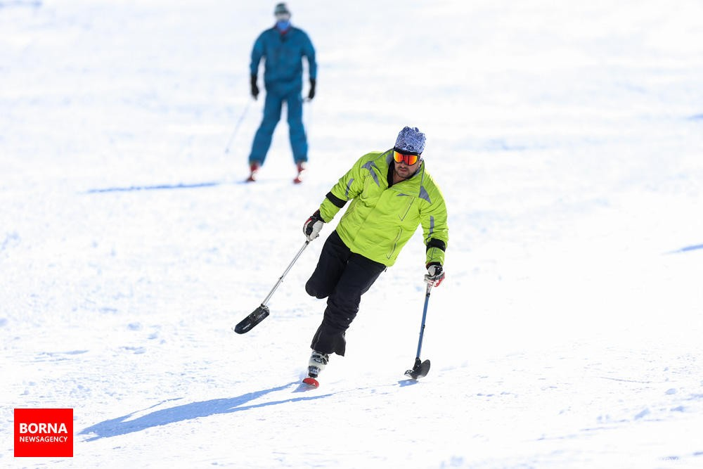 Photo: The first World Para Alpine Skiing and snowboard competition held in Iran