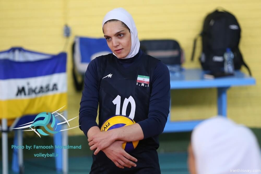 Borhani, 29, is the first Iranian woman player who joins a European volleyball team.