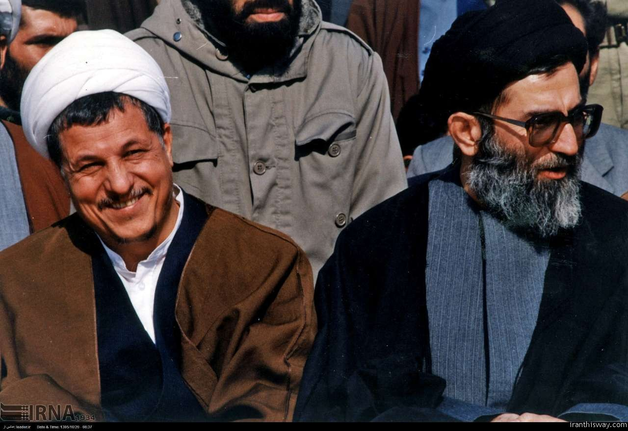 Ayatollah Hashemi Rafsanjani and Ayatollah Khameni, 1980s