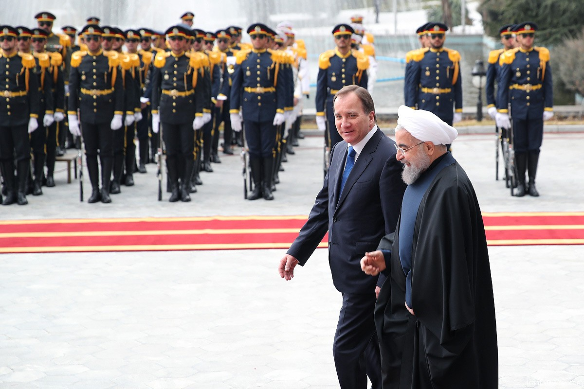 Photo: Swedish Prime Minister in Iran