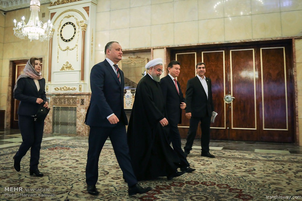 Photo: President Rouhani met Moldovan counterpart