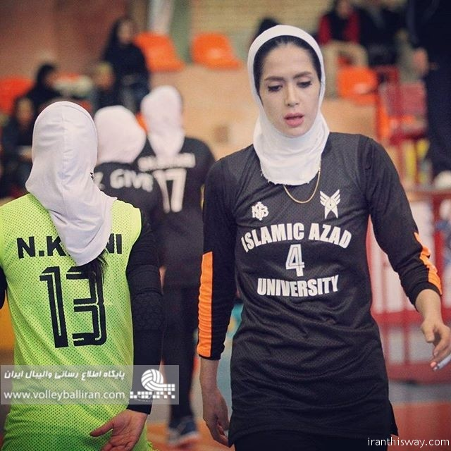 Iranian girl elected as best volleyball player in Central Asia