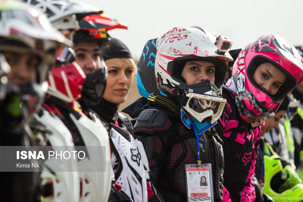 Photo: First Iranian girls motocross championships