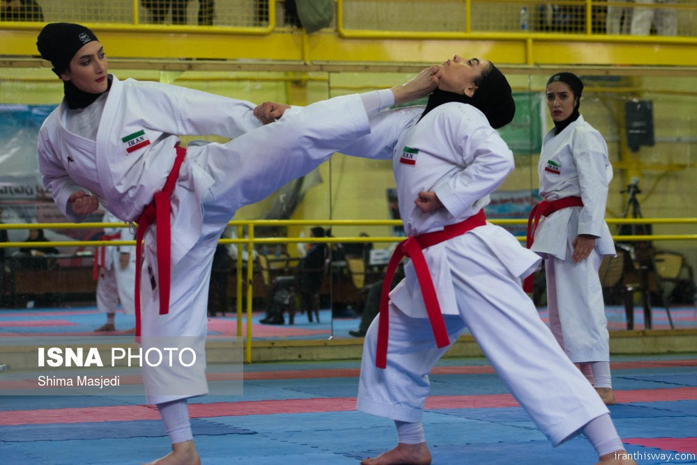 Photo: Iranian women Karate championship