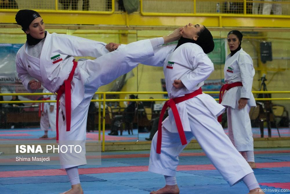 Photo: Iranian women Karate championship