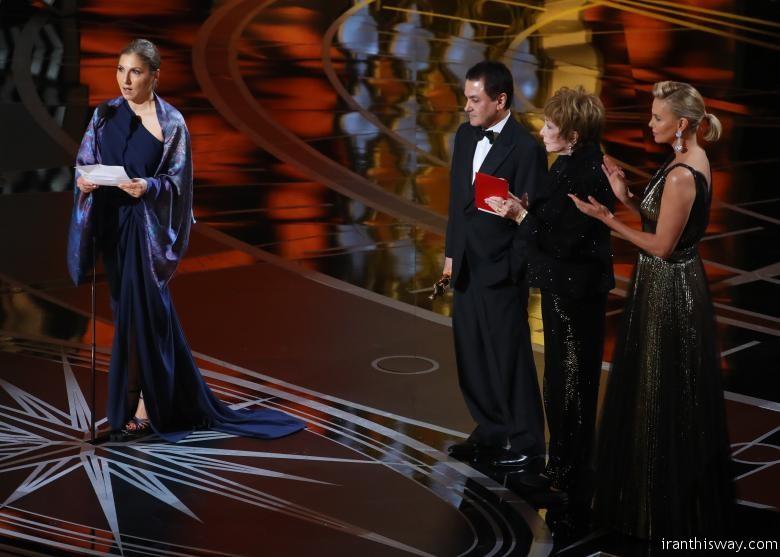 Best Foreign Language Film The Salesman Asghar Farhadi (Iran) is accepted by a designated woman reading Farhadi's statement. REUTERS/Lucy Nicholson