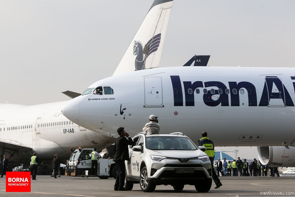 An Airbus A330 aircraft arrived in Tehran on Saturday, the second of 200 Western-built passenger jets ordered by the national carrier Iran Air following the lifting of sanctions.