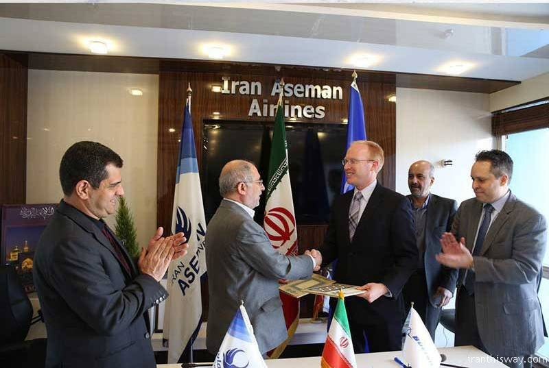 Iran's Aseman Airlines on Tuesday signed a deal to purchase dozens of passenger planes from US aviation giant Boeing.