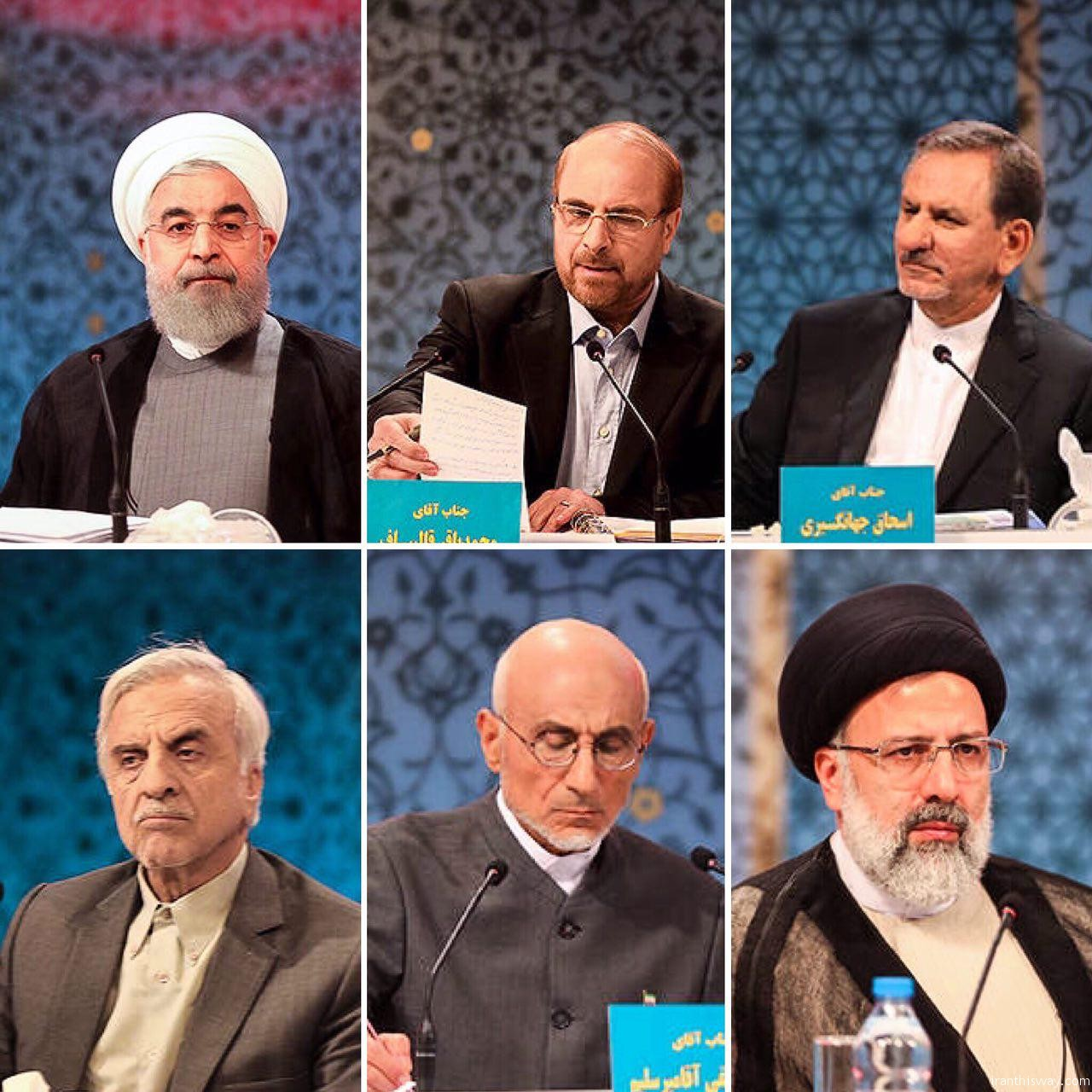 Iran 2017 presidential candidates hold first live debate on social affairs+Movie & Photo