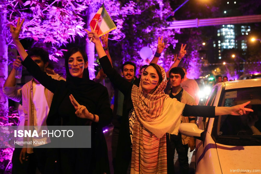 Photo: Rouhani's supporters celebrate victory all over Iran