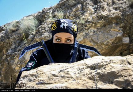 Photo: Iranian Ninja women training in Lorestan province