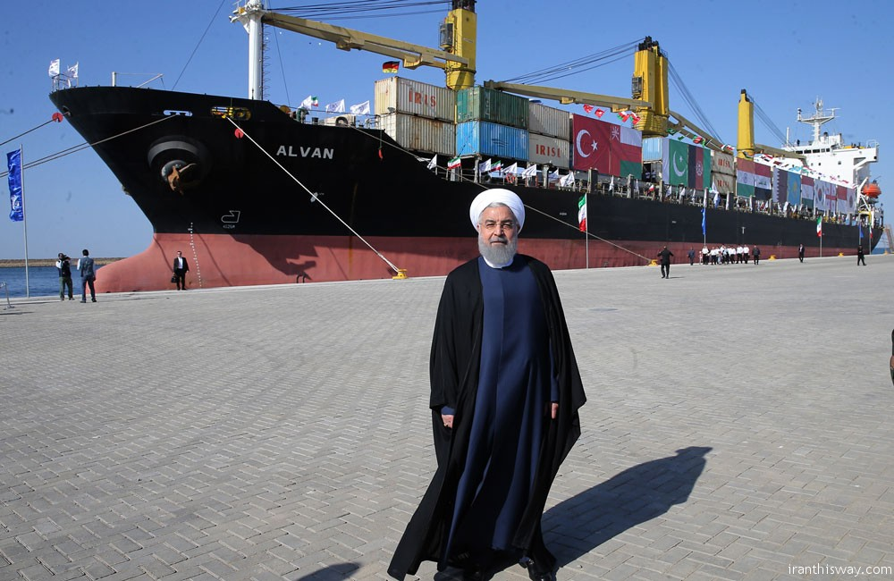 President Rouhani inaugurated Chabahar port to intl. trade corridor