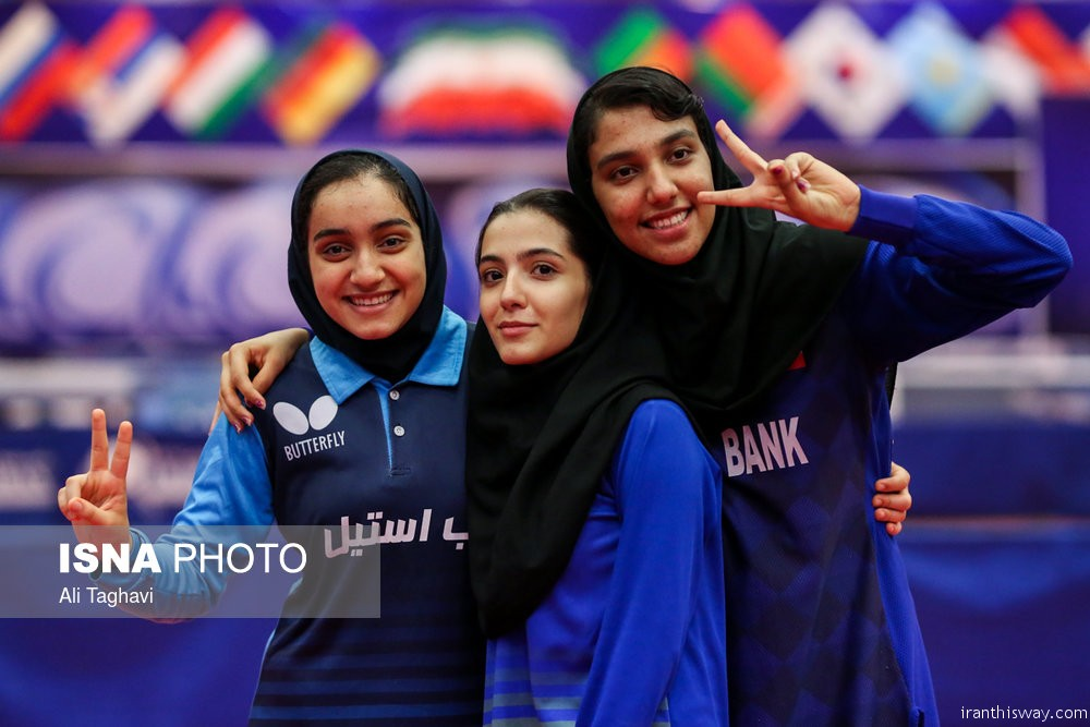 Photo: Iranian women Table Tennis team training