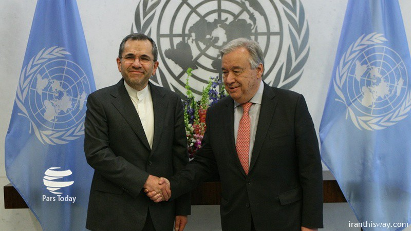 Iran envoy hopes UN Sec-Gen's efforts for lifting sanctions pay off