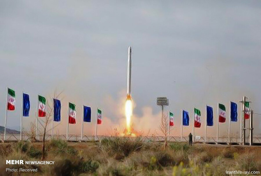 Iran's puts first military satellite into orbit