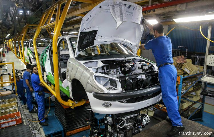 Iran produce at least  863K vehicles in a year